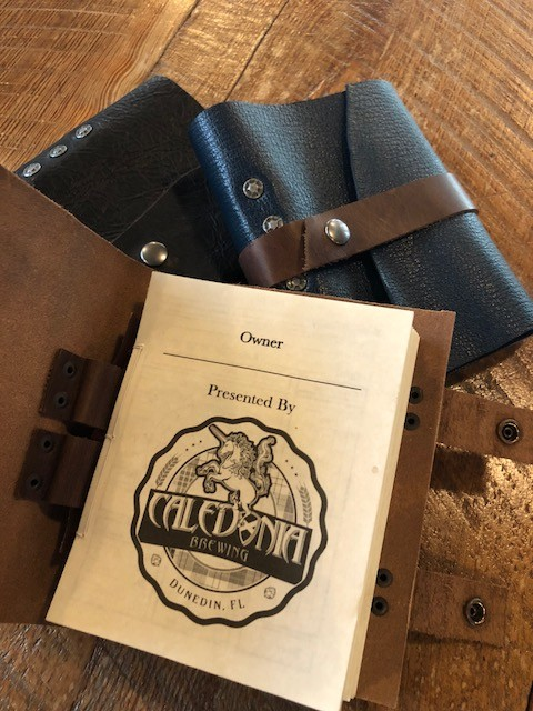 Handmade Leather Beer Journals $35